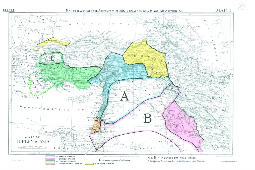 SYKES-PICOT MAP - BRITISH LIBRARY